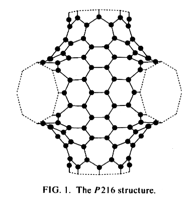 Schwartzite, hypothetical sp2 phase of carbon. http://plato.phy.ohio.edu/~drabold/pubs/14.pdf