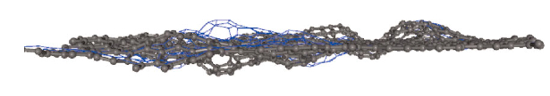 Puckered amorphus graphene. http://plato.phy.ohio.edu/~drabold/pubs/175.pdf