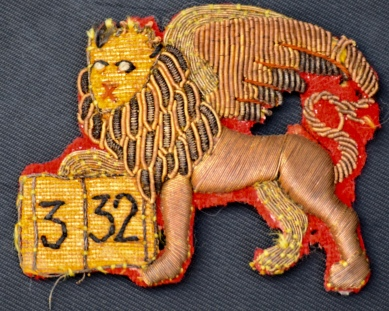 332nd Infantry badge from Herbert Ruthenberg, World War I